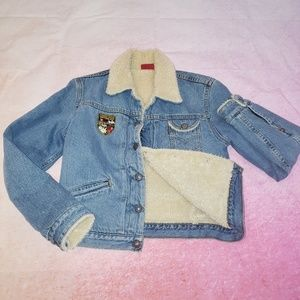 Levi's swiss patch sherpa denim jacket